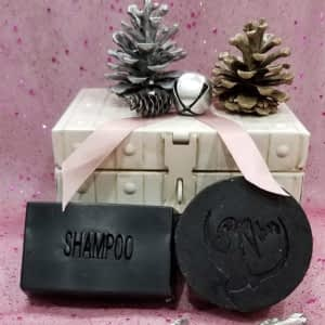 natural shampoo bar with Active Charcoal and Cocoa Seed Biovibez Soapery and More Hamilton